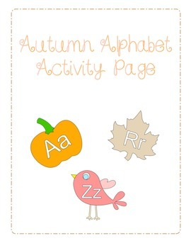 Autumn Alphabet Package