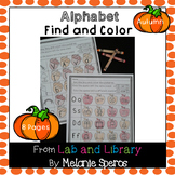 Autumn Alphabet Review: Find and Color Printables