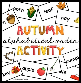 Fall Activity Alphabetical Order