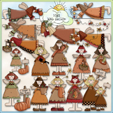 Autumn Angels Clip Art - Fall Clip Art - Autumn Clip Art -