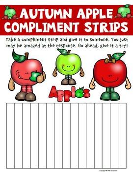 Autumn Apple Compliment Strips
