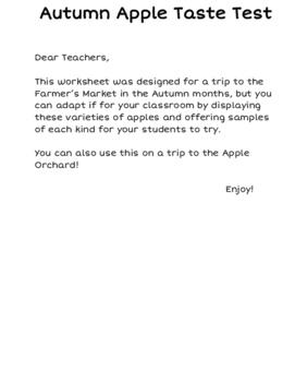 Autumn Apple Taste Test