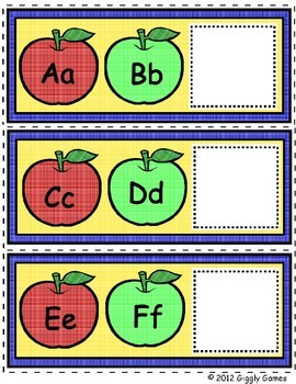 Autumn Apples Alphabet Envelope Center