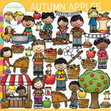 Autumn Apples Clip Art {Whimsy Clips Fall Clip Art}
