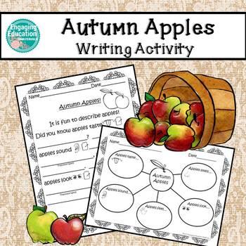 Autumn Apples Graphic Organizer & Essay Template for  Begi