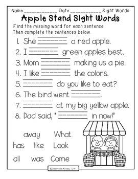 Autumn Apples - Literacy Centers