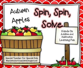 Autumn Apple Math- Spin, Spin, Solve {CCSS Instant Math Center}