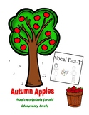 Autumn Apples Music Worksheets