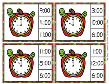 Autumn Apples Time to the Hour Clip Cards