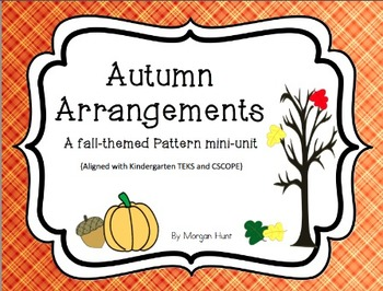 Autumn Arrangements: {A Fall-themed pattern mini-unit}