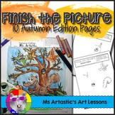 Autumn Art Activity: Finish the Picture!