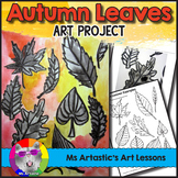 Autumn Art Lesson, Leaf Art