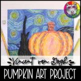 Autumn Art Lesson, Vincent van Gogh inspired Pumpkin