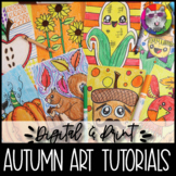 Autumn Art Lessons Booklet, Distance Learning {DIGITAL & PRINT!}