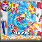 Autumn Art Lesson, Mixed Media Leaves Art Project
