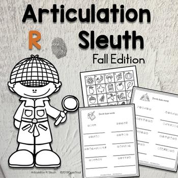 No Prep Autumn Articulation Worksheets for R