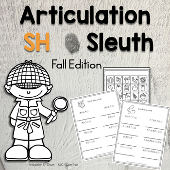 No Prep Autumn Articulation Worksheets for SH