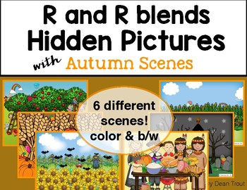 Autumn Articulation Activity Hidden Pictures R and R Blends
