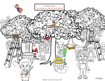 Autumn Articulation Activity Hidden Pictures S and S Blends