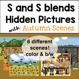Autumn Articulation Activities for S and S Blends Hidden Pictures