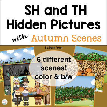 Autumn Articulation Activities for SH and TH Sounds Hidden Pictures