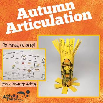 Autumn Articulation:  No Prep, No Mess Craftivity