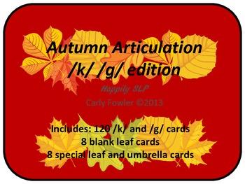 Autumn Articulation /k/ and /g/