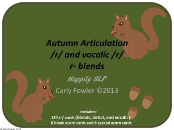 Autumn Articulation /r/ and r-blends