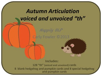 Autumn Articulation voiceless and voiced 'th'