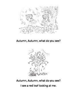 Autumn, Autumn what do you see? Emergent Reader