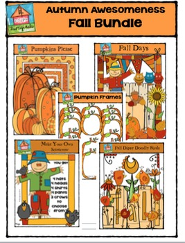 Autumn Awesomeness - Fall Bundle {P4 Clips Trioriginals Digital Clip Art}