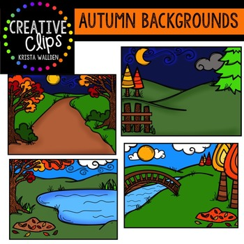 Autumn Backgrounds {Creative Clips Digital Clipart}