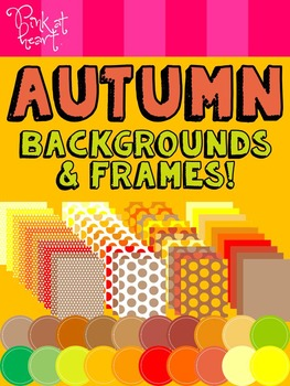 Autumn Backgrounds and Frames