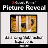 Autumn: Balancing Subtraction Equations - Google Forms Mat