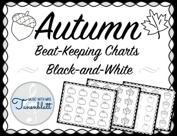 Autumn Beat Keeping Charts - Black and White