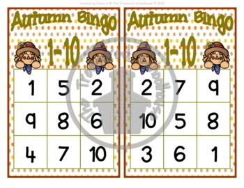 Autumn Bingo 1-10 Game