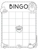 Autumn Bingo Sheet