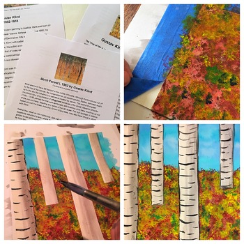 Autumn Birch Trees Lesson