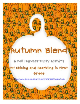 Autumn Blend {Fall Harvest/Halloween Party Activity}
