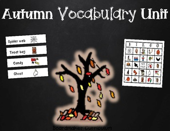 Autumn Boardmaker Vocabulary Unit - Great for an Autism Cl