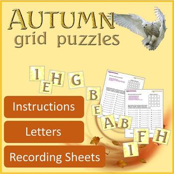 "Autumn ""Boggle"" type game Bulletin Board SET! K-12"