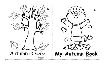 Autumn Book Printout for Students - Sight Words - Color Words
