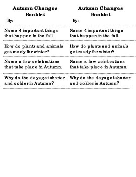 Autumn Booklet - G2