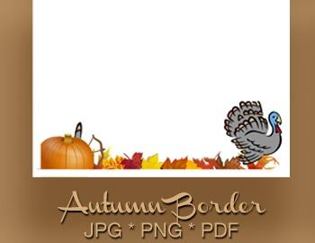 Autumn Border - Thanksgiving - Turkey Hunt