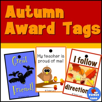 Fall Brag Tags for Fun and Easy Classroom Rewards and Motivation