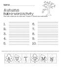 Autumn Build-a-Word Activity