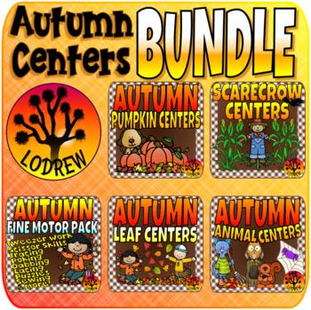 Autumn Bundle Fall Centers Math Literacy Fine Motor Activities Shapes Sizes