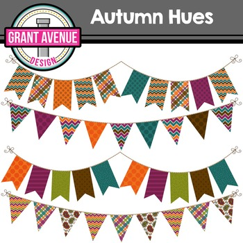 Autumn Bunting Clipart - Fall Bunting Clipart