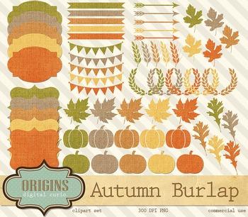 Autumn Burlap Clipart