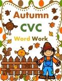 Fall CVC Words Bundle:  72 WORDS